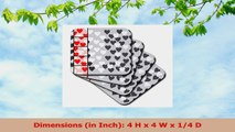3dRose cst599004 Fun Hearts Collage with Red and Gray Hearts Ceramic Tile Coasters Set 1d0fef5a