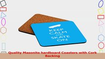 Rikki Knight Keep Calm and Skate on Sky Blue Color Design Square Beer Coasters c869580f
