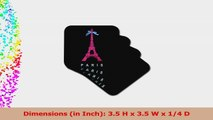 3dRose cst1129082 Hot Pink Paris Eiffel Tower from France with Girly Blue Ribbon 1a82046f