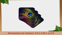 Lee Hiller Designs General Themes  Peacock Feather Print  set of 8 Ceramic Tile Coasters 11db8c60