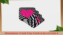 3dRose LLC Punk Rockabilly Zebra Animal Stripe Pink Heart Print Ceramic Tile Coaster Set c9fdecfa