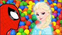 JOKER w/ SPIDERMAN w/ FROZEN ELSA | SUPERHEROES JIGSAW COLOURFUL BALLS #ANIMATION