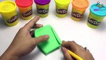 Peppa pig toys & Play doh clay! - Create Ice Cream Rainbow playdoh frozen