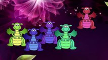 Fuego de dragón 3d Dedo de la Familia Vivero inglés rimas   Niños Animados dedo de la familia de la canción
