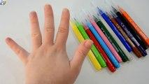 Aprender los Colores para Niños de Pintura de Dedo de la Familia de la Canción Rimas infantiles de Aprendizaje Vídeo EggV