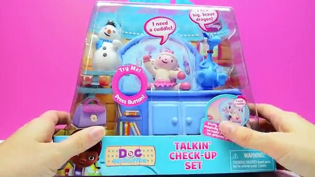 Doc McStuffins Toys Hallie & Squeakers Talkin Check Up Set Lambie, Stuffy, Chilly