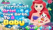 Pregnant Princess Ariel Baby Birth Mermaid Ariel Give Birth to a Baby Game