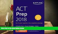 Audiobook  ACT Prep 2018: 6 Practice Tests + Proven Strategies + Online (Kaplan Test Prep) Kaplan