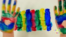 Aprender los Colores para los niños los Niños Pequeños Dedo de la Familia Rimas infantiles de Aprendizaje Vídeo Compil