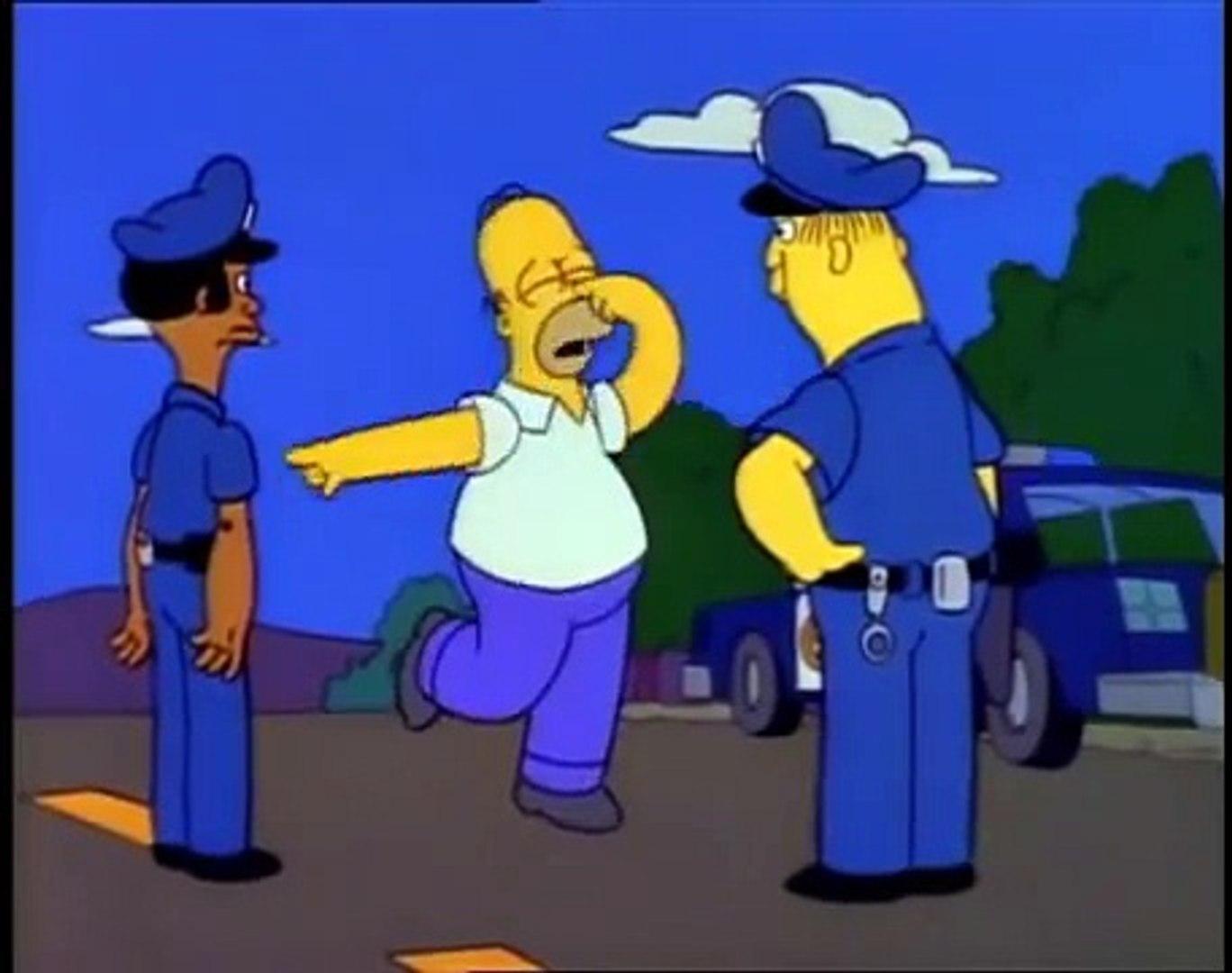 Los Simpson: Control de alcoholemia