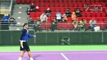 Séance d'entrainement de M. Jaziri avec Novak Djokovic