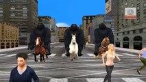 King Kong Dedo de la Familia Vivero inglés 3d rimas   Niños Animados dedo de la familia de la canción