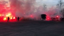 25/02/17 : SRFC-FCL : arrivée des joueurs du Stade Rennais