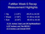fatmanmelts 80 lb 180 days week 6 recap