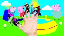 Spiderman dedo de la familia de la canción   Superhéroes Rimas infantiles: Elsa, Joker, Batman, Hulk famil