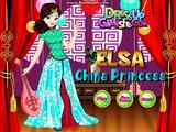 Congelados La Princesa Juegos De La Reina Elsa Tiempo De Viaje A China Componen El Diseño De Las Princesas Elsa