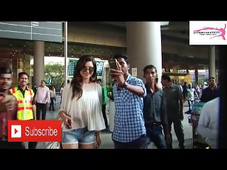 Urvashi Rautela Spotted Short Denim At Mumbai Airport