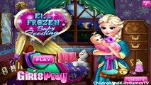 Congelados Elsa Bebé De Nacimiento / Disney Frozen Juego De Elsa Frozen Bebé La Alimentación De Los Videos Juegos Para Gi