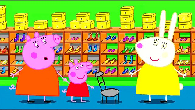 Peppa Pig Peppa Shopping New Shoes Coloring Pages Peppa Pig Coloring Book