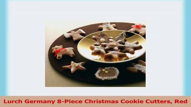 Lurch Germany 8Piece Christmas Cookie Cutters Red 41190f41