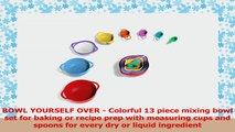 Vremi 13 Piece Mixing Bowl Set  Plastic Mixing Bowls with Large Mixing Bowl  Nested 2a4ffdea