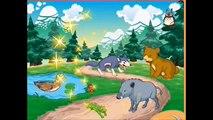 Mascotas para los niños. En la granja. La canción de dibujos animados sobre la voz de los animales. Que como se