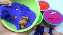 Play Dough Ice Cream Cups Surprise Toys Dora And Masha Paw Patrol Minions Tom and jerry