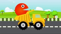 Pacman Fun Learning Colors 3D Dump Truck | Teach Colours for Children Baby Toddlers Kids Learn Video
