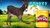 Learn Play Doh Farm Animals Names & Animals Sounds | Learning Farm Animals Names for Kids