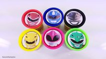 Power Rangers Playdoh Tubs Playdoh Dippin Dots Toy Surprises! Learn Colors! #2