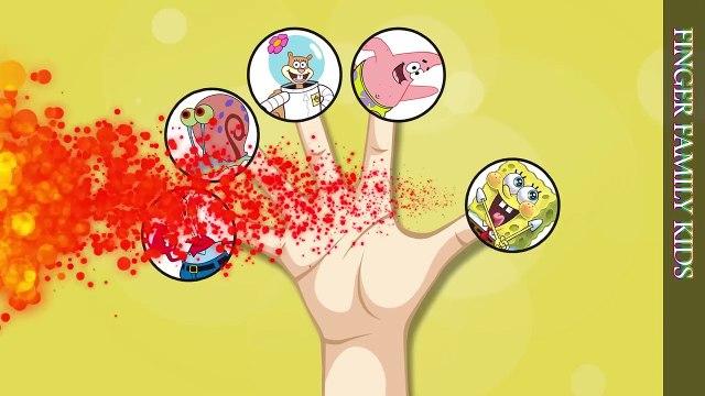 Finger Family Song SpongeBob SquarePants Patrick Sandy Gary Mr. Krabs Nursery Rhyme