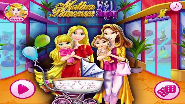 Mother Princesses Rapunzel and Belle Go Mall Shopping - Disney Princess Dress Up Games For