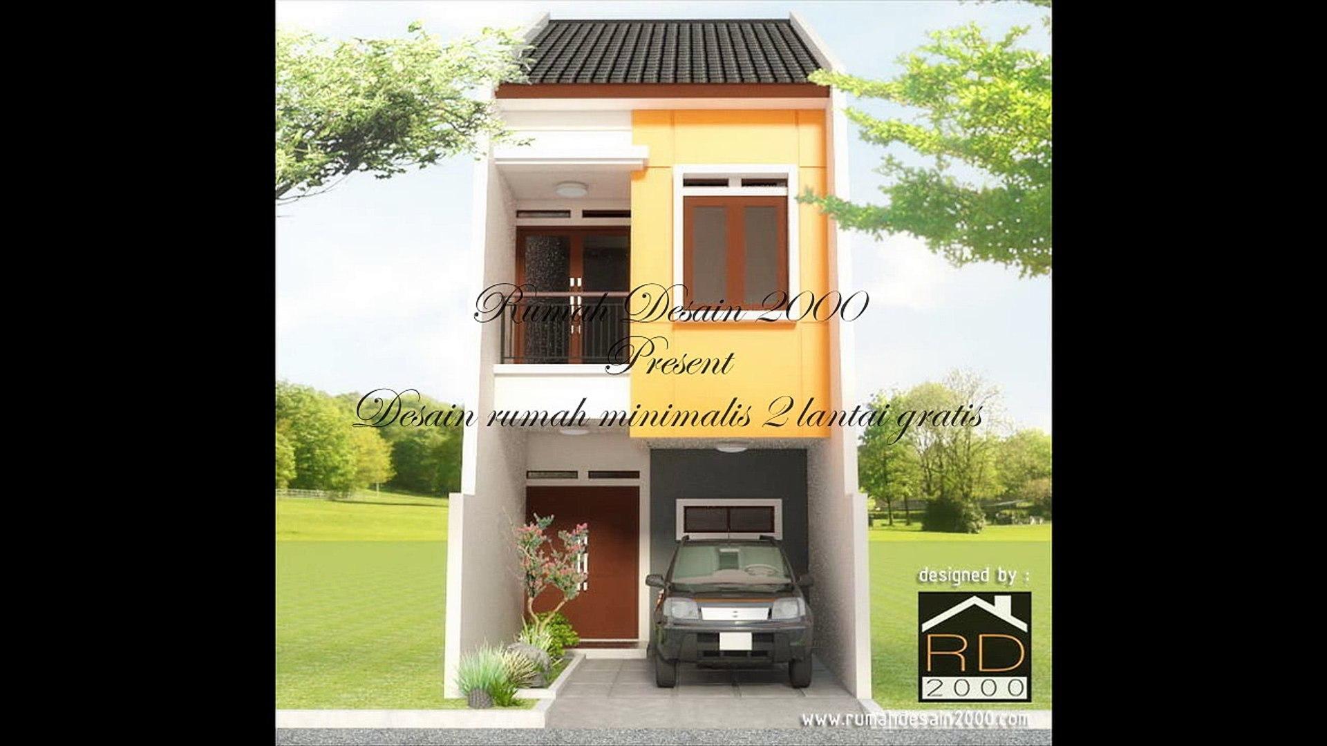 Desain minimalis 2 lantai gratis Rumah Desain 2000