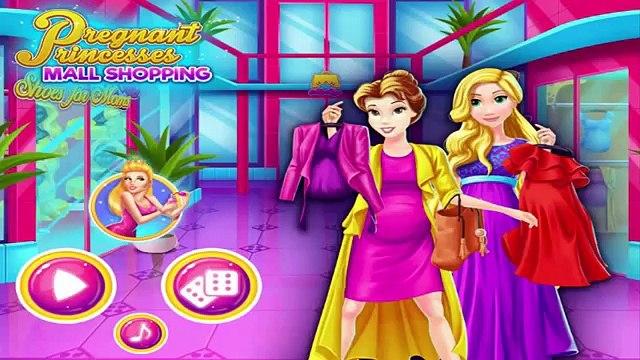 Pregnant Princesses Belle and Rapunzel Go Mall Shopping - Disney Princess Dress Up Games F