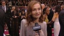 """""""J'ai le temps de..."""" kiffer le tapis rouge des Oscars! Isabelle Huppert aux Oscars 2017"""