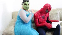 Frozen Elsa STEAL Anna Dress! w/ Spiderman Maleficent FUN IRL SUperhero in Real Life Movie
