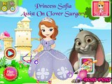 PRINCESITA SOFIA EN LA OPERACION DE CLOVER! - SOFIA THE FIRST ASSIST ON CLOVER SURGERY!