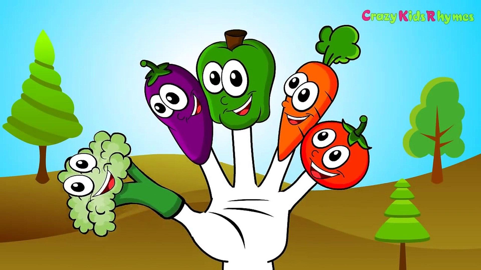 Палец семья | овощи Finger семья | папа палец семья | Детская рифма
