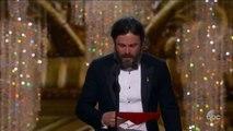 Oscars - Le discours de Casey Affleck, sacré meilleur acteur