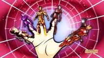 Spiderman 3d Finger family Frozen ABC songs   Captain America Finger family   Minions 123 song