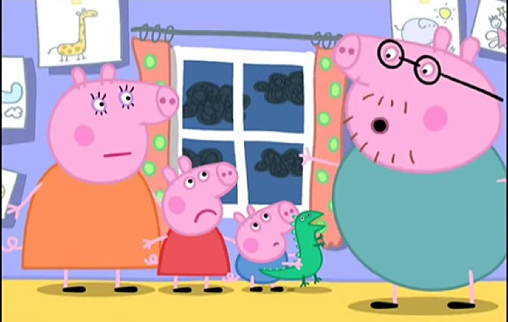 Peppa Pig Papa Cochon En Francais Anime - L Orage - Dessin Anime