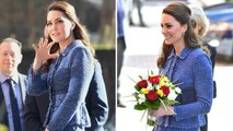 Kate Middleton looks beautiful in blue as she visits Ronald McDonald House Charities