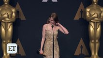 Emma Stone Reacts to Best Picture Mistake Between 'La La Land' & 'Moonlight' Backstage at the Oscars