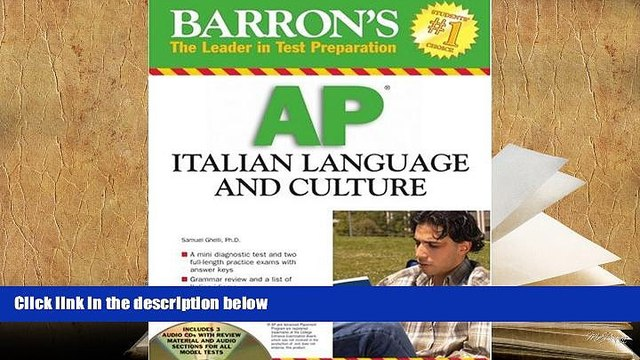 Popular Book  Barron s AP Italian Language and Culture: with Audio CDs  For Online