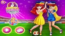 Disney Princess Ariel & Rapunzel EURO 2016 France Football Shopping Game For Little Kids &