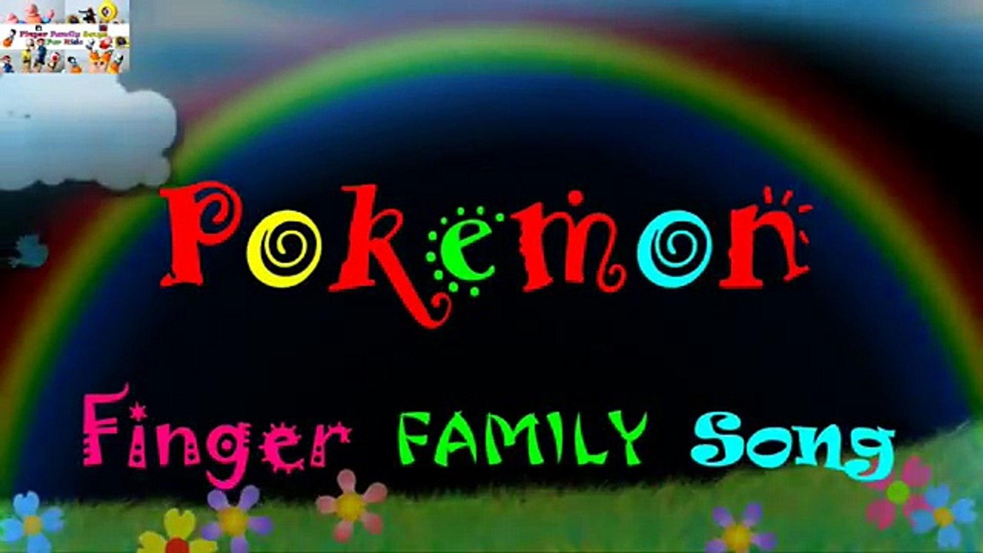 Pokemon Finger Family Song Education Nursery Rhymes for Kids