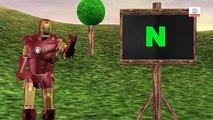 Ironman ABC Canciones Para los Niños   ABC Alfabeto Canciones Para los Niños   3D de dibujos animados de los Niños de la Guardería