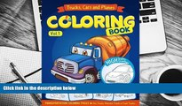Download [PDF]  Trucks, Planes and Cars Coloring Book: Cars coloring books for kids