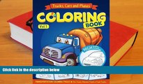 PDF  Trucks, Planes and Cars Coloring Book: Cars coloring books for kids (Transportation Coloring