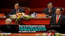 """""""The party center and the whole party must have a core,"""" it said in an editorial at the end of the Central Committee meeting."""